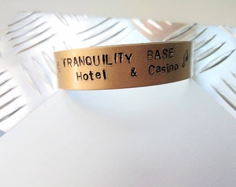 Arctic Monkeys,Tranquility  Base, Hotel & Casino, Alex Turner, bracelet handstamped, jewellery Arctic Monkeys, new album Arctic Monkeys