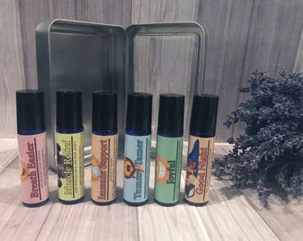 Back to School Essential Oil Roller Bottle Blends, Essential Oil Back to School Blends, Essential Oils for Families, Essential Oil Blends