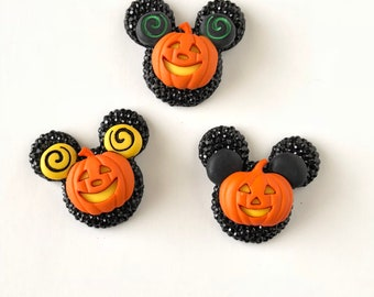Mickey Pumpkin Pin, Mickey Jack O'Lantern Pin, Mickey Halloween Pin, Mickey Head Pin, Mickey Ears Pin, Badge, Brooch, Fall, Disney Jewelry