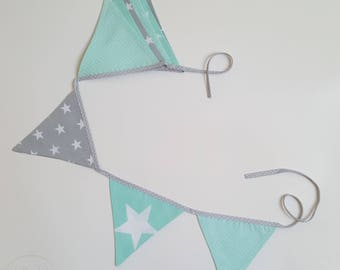 Garland - mint and gray