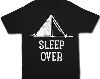 Sleepover Shirt Kids Camping Shirt Birthday Shirt Slumber Party Shirt Sleepover Party Tent Shirt Camp Shirt Kids Tshirt Camping Tshirt