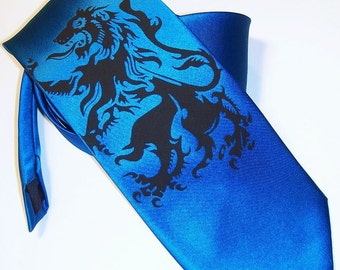 RokGear Lion Rampant print - Mens necktie - Print to order colors of your choice