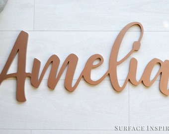 Wooden letters Personalized Name Wood Design Cut Out Any Font Name Custom Laser Cut Unfinished Painted Or Glittered Small To Large Size