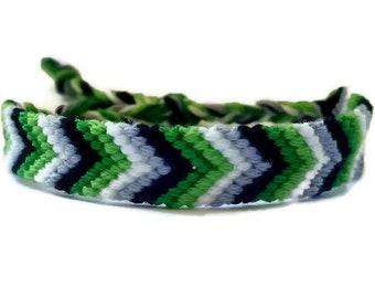 Aro Pride Chevron Friendship Bracelet - White Stripe