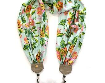 scarf camera strap tropical gardens - BCSCS138