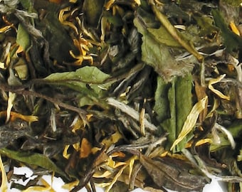 Organic White Tea. Peach Tea.  Exotic Loose Leaf - 4 oz