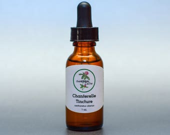 Chanterelle Tincture - Herbal Remedy for the Immune System, Blood Circulation, Cholesterol, Blood Pressure, Nervous System
