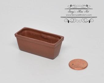 1:12 Dollhouse Miniature Long Terra Cottar Planter/ Miniature Garden/ Miniature Pot BD B022