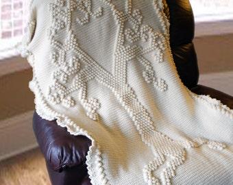 Crochet Pattern--Tree of Love Heirloom Afghan --Crochet Pattern