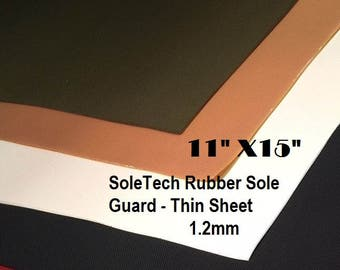 Shoe Rubber, Shoe Making Supplies, Lightweight Sole Tech Rubber, Thin Mini Check Sole Guard Rubber, 1.2 mm Soling Rubber, Outdoor Shoes