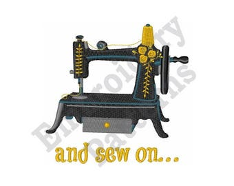And Sew On.... - Machine Embroidery Design
