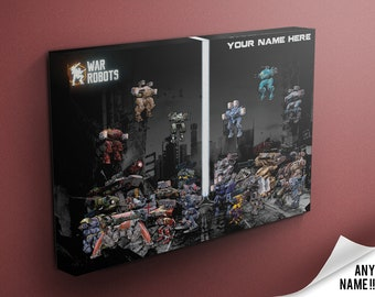 Personalised War Robots Canvas