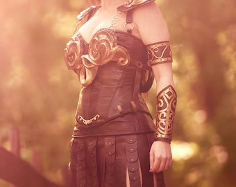 Xena Warrior Princess leather cosplay costume, ooak, FREE SHIP to US