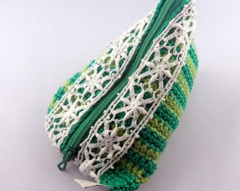 Green Bean and lace wallet