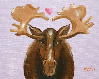 I Love You Moose Much - print