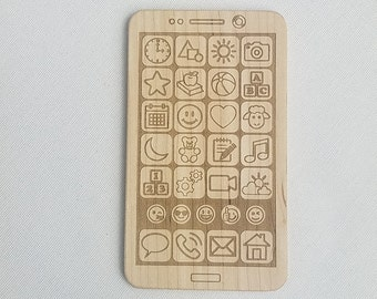 Personalized Wood Teether Toy Phone