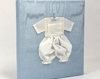 Baby Memory Book in Moire with Swiss Batiste Knickers