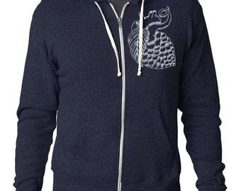 Craft Beer apparel- Hop Heart Zip-Up Hoodie