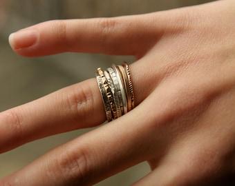 Unique stack rings