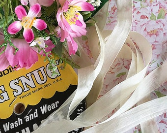 "Cream/Ivory Seam Binding Ribbon, Rayon, 1/2"" wide, 5metre bundle"