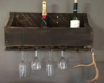 Barnwood Wine Rack, wood wine storage