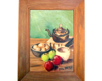 Vintage oil painting tablescape 2