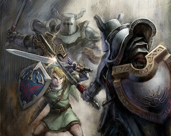 Legend of Zelda Twilight Princess, Multiple Sizes Available, Video Game Poster