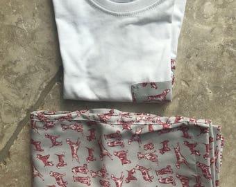 Red dog pajamas for kids