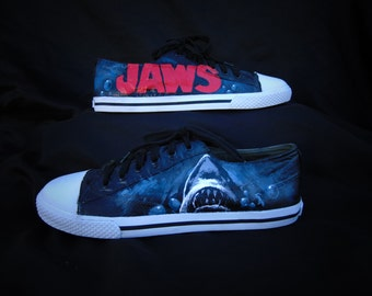 Jaws Shark Hand Painted Shoes