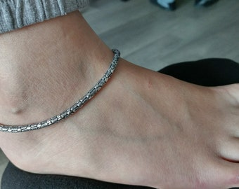ankle day her opal c il etsy bracelet anklet body jewelry foot anklets mothers beach moon crescent for gift