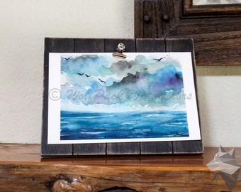 Ocean Sky Watercolor Fine Art Print