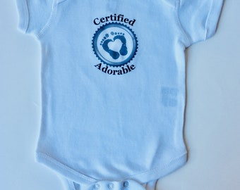 Certified Adorable Baby Onesie