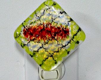Fused Glass Dichroic Night Light