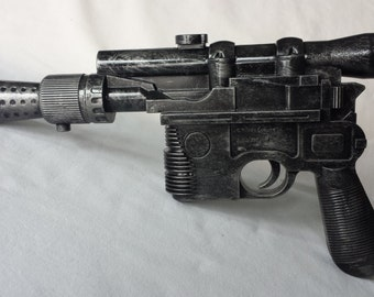 Hand Painted Han Solo Blaster Gun Prop Star Wars costume weapon with working trigger Full Size DL 44 for Cosplay