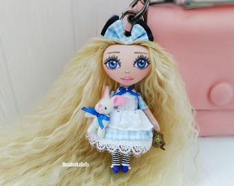 Alice in wonderland Customized Dolls Alice Rag dolls Textile dolls Cloth dolls Interior dolls Art dolls Birthday Gifts for daughter Soft toy
