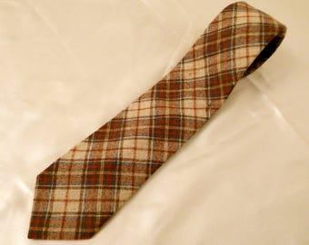 Vintage Pendleton Men's Wool Plaid Neck Tie