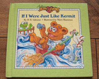 vintage 80s Muppet Babies  If I Was Just Like  Kermit  children muppets weekly reader guc