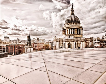 """London print, London photography,St Paul's Cathedral, travel photography - """"London Calling"""""""