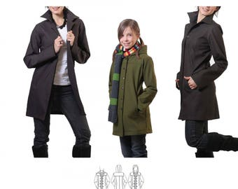 Jalie 2680 - Stretch City Coat/ 27 Sizes / Child & Adult