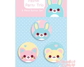 Pastel Party Trio