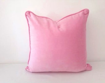 Pink Velvet Throw Pillow Cover,  Baby Pink Cushion Cover, FREE SHIPPING