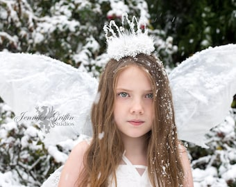 Snow Crown- Ice Crown- Snow Fairy- Snow Queen- Ice Queen- Snowflake Tiara- Winter Crown- Winter Fairy- Fairy Costume- LARP