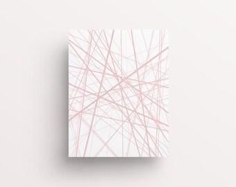Line Art, Abstract Wall Art, Geometric Print, Printable Wall Art, Blush Decor, Blush Prints, Modern Abstract, Pink Wall Art, Pink Decor