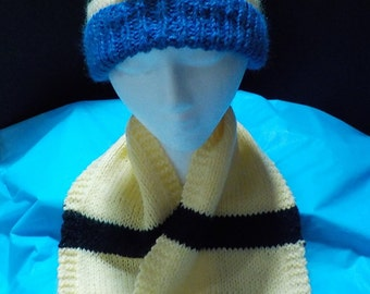 Minion hat and scarf set