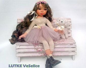 Art doll, Custom doll, Handmade doll, Soft doll, Textile handmade doll,Fabric Doll,Long Hair doll,Collectible unique doll, Doll for girls