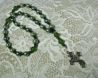 Anglican Prayer Beads-Rosary-Green