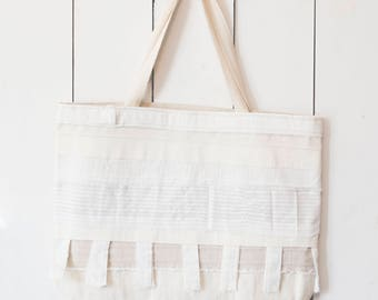 Upcycled One-Of-A-Kind Scrappy Tote Bag 8