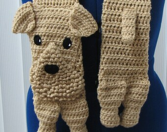 Airedale - Scarf Crochet Pattern - Airedale Dog Scarf Pattern - With Tutorials - Airedale Terrier Pattern - Animal Scarf Pattern