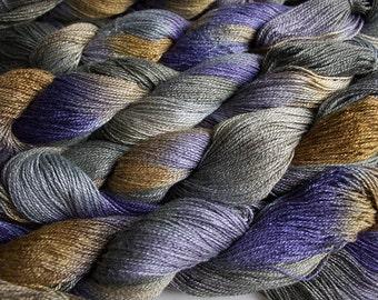 Fine Bamboo, Hand Painted yarn, 300yds - Summer