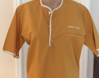 Georgia Tech Scrub style shirt in Yellow Jacket Gold